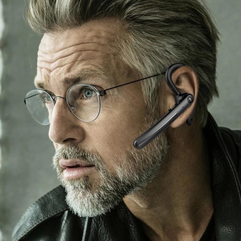F990 Wireless Headset Bluetooth 5.0 Earpiece Handsfree Headphones Mini Earphone Noise Reduction For iPhone xiaomi HUAWEI Phones