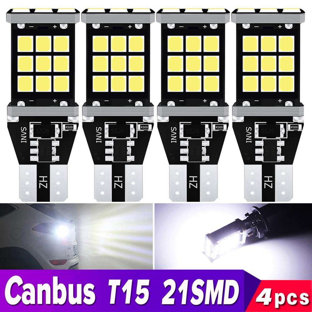 Bombilla LED de 4 Uds. T15 W16W para coche CANBUS, reserva de apoyo, NO OBC, luz trasera de ERROR para Lada Granta, Niva, Priora, Kalina, Xray, Vesta