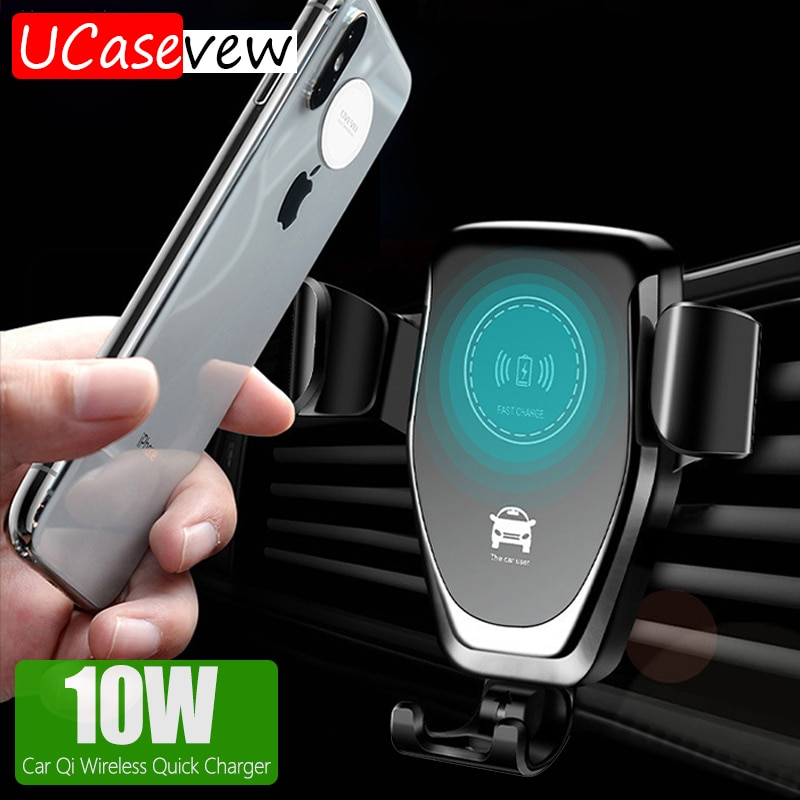 Car Wireless Fast Charging Stand Holder for iPhone 11 Pro Max Xs 8 USB Car Wireless Quick Charger Br