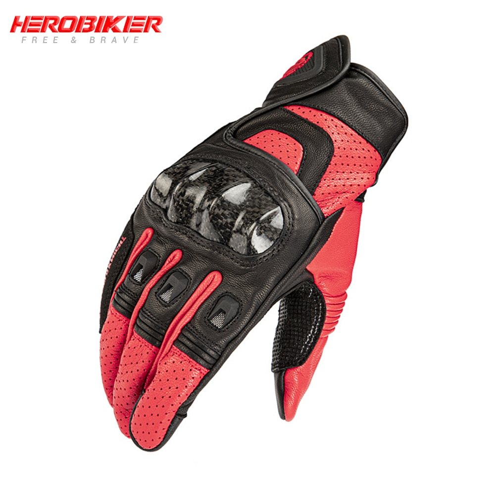 HEROBIKER Motocicleta Mesh Breathable Waterproof Gloves Protective Touch Screen Ridding Gloves Guantes Moto Motorcycle Guantes enlarge