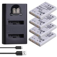 4 Pièces EN-EL5 ENEL5 Batterie et LED Double Chargeur USB pour Nikon Coolpix P530 P520 P510 P100 P500 P5000 P5100 P6000 3700 4200 Caméra.