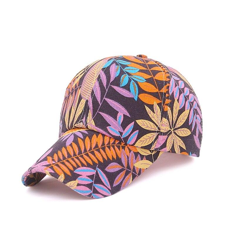 Men Maple Leaf print Street wear Baseball Caps  sport Casual Sun hat Snapback four season cap for women