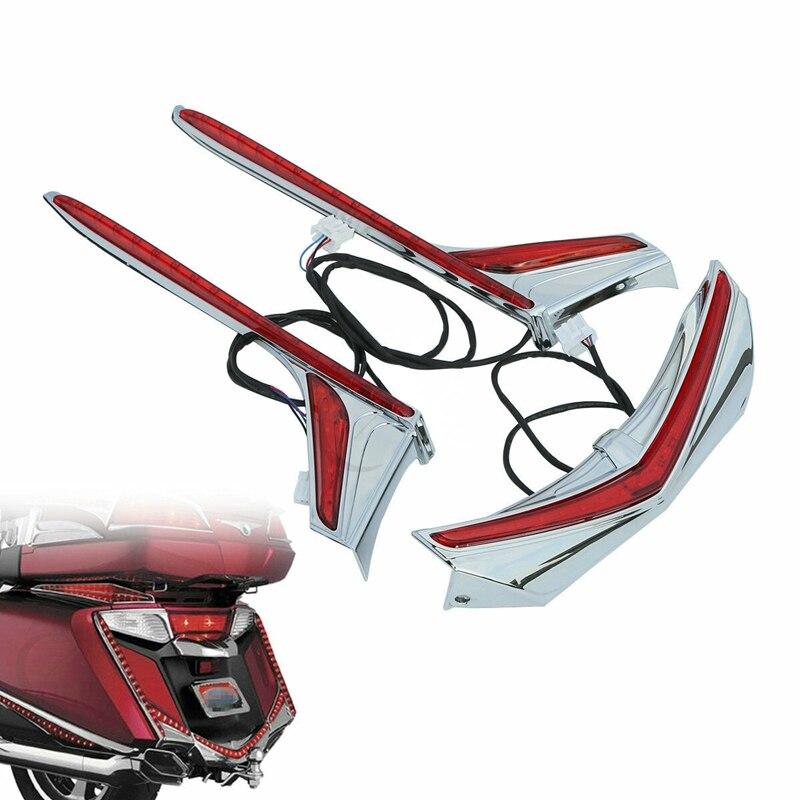 دراجة نارية الحاجز تلميح لهجة عمودي مصباح ليد خلفي قطاع لهوندا غولدوينغ F6B GL1800 13-17