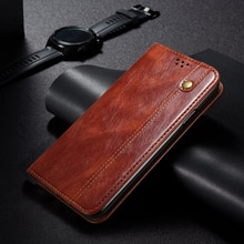 Luxury Leather Case For Xiaomi Poco F3 Flip Cover Poco M3 Oil wax Wallet Poco X3 NFC Case Magnetic C