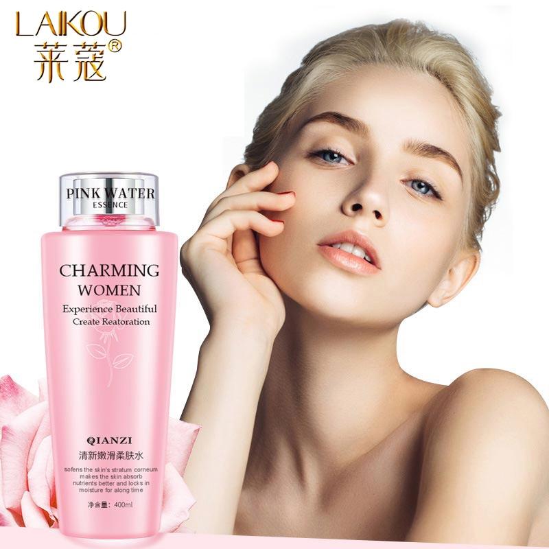 LAIKOU Rose Facial Toner Moisturizing Hydration Anti-Aging Oil Control Shrink Pores  Makeup Water Face Toner Skin Care 400ml недорого