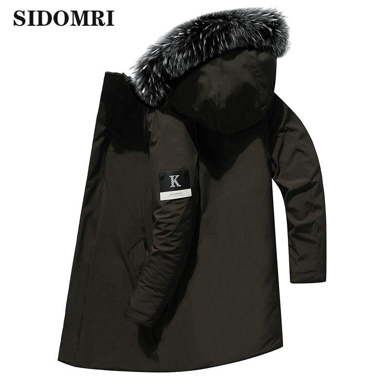 Зимняя мужская куртка, Повседневная Длинная толстая парка с воротником из искусственного меха, мужская верхняя одежда, водонепроницаемые к...