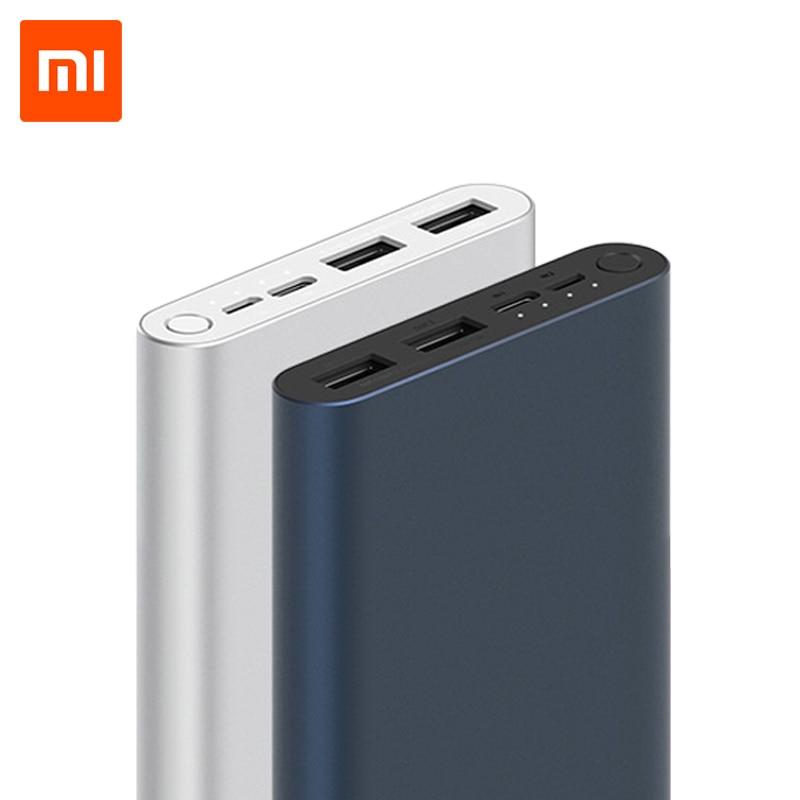 Original Xiao mi mi Power Bank 3 10000mAh USB Typ C Zwei-Weg 18W Schnell Aufladen Power externe Batterie Pack Tragbare Ladegerät