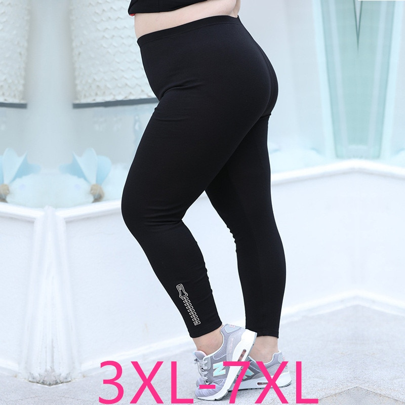 2019 new autumn winter plus size pencil pants for women slim casual elastic waist tight long sport trousers 3XL 4XL 5XL 6XL 7XL