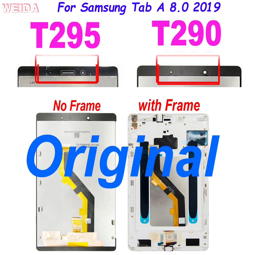 11 0 lcd for samsung galaxy tab s7 t870 lcd display touch screen digitizer assembly for samsung sm t870 t875 t876b lcd screen Original T290 LCD For Samsung Tab A 8.0 2019 SM-T290 SM-T295 T290 T295 LCD Display Touch Screen Digitizer Assembly for T295 LCD
