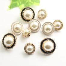 Nouvelle tendance 10 pièces/ensemble résine perle pied bouton cousu main tissu vêtements décoration Production créative en gros