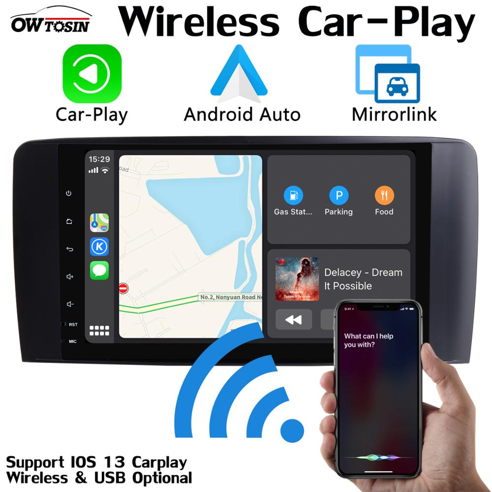 "9 ""PX6 4G + 64G Android 9,0 reproductor Multimedia para Mercedes Benz Clase R W251 R280 R300 R320 R350 GPS Radio estéreo CarPlay DSP"