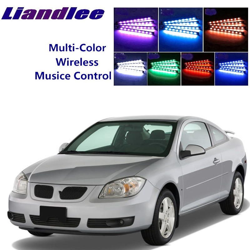 LiandLee Car Glow Interior Floor Decorative Seats Accent Ambient Neon light For Pontiac G5 Pursuit 2006~2009