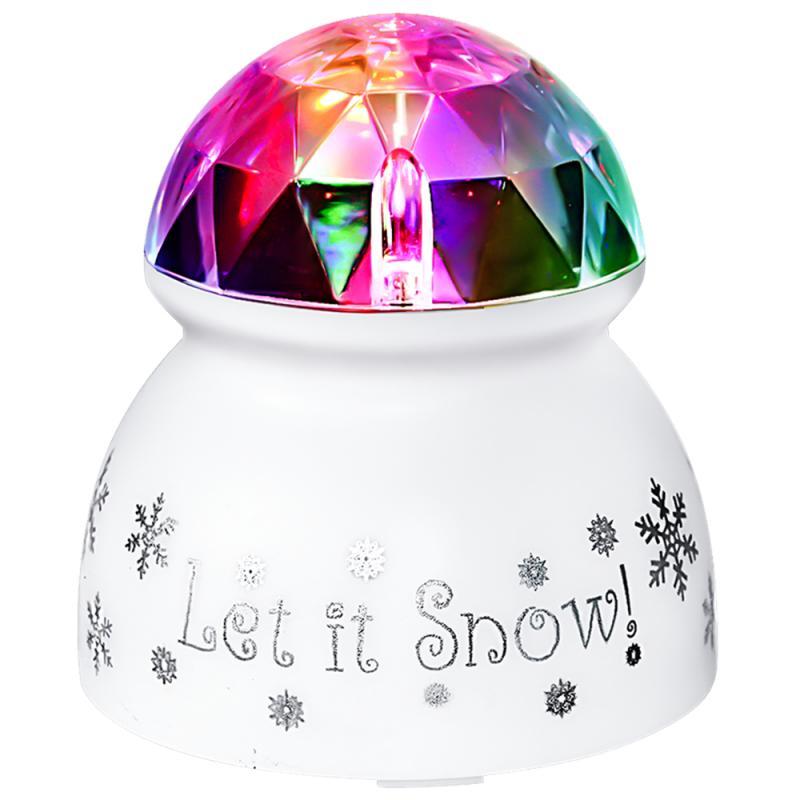 Bombilla LED múltiple portátil Mini proyector DJ Disco Luz de escenario iluminación de fiesta de Navidad hongo LED escritorio marca de agua luz solar
