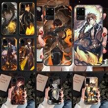 Zhong li Genshin impact Phone case For Samsung Galaxy Note 4 8 9 10 20 S8 S9 S10 S10E S20 Plus UITRA