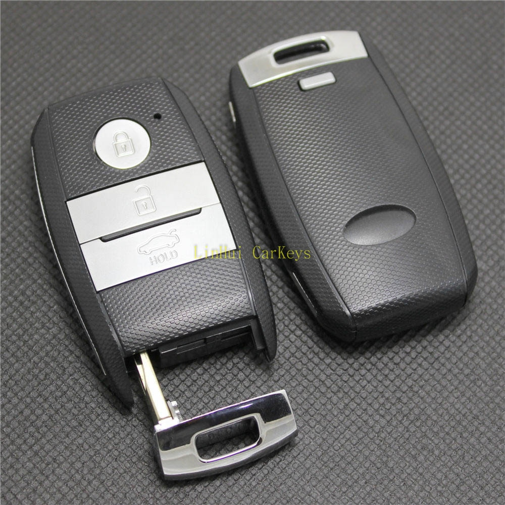 PINECONE Car Key Case for KIA K3 K5 Smart Key 4 Buttons Uncut Brass Blade Remote Blank Key Cover Shell 1 PC