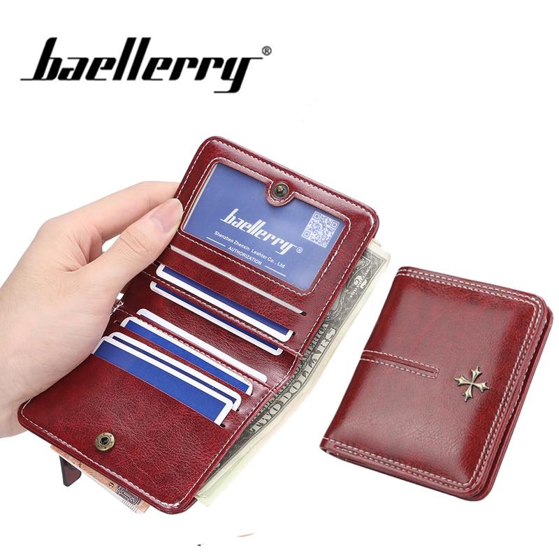 Baellerry женский короткий кошелек на молнии, кошелек для монет, держатель для карт, кошелек, женские маленькие бумажники и кошельки, перекрестн...