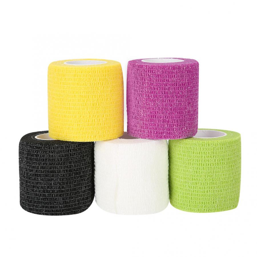 Back Support 5 Types of Camouflage Pattern Cotton Elastic Adhesive Strain Injury Muscle Sports Stick