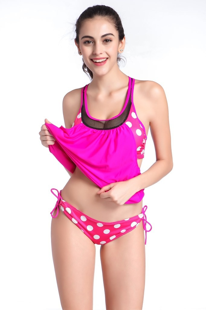 Burst the new wave of Europe and the United States classic wave bikini swimsuit pregnant women fat MM swimsuit enlarge