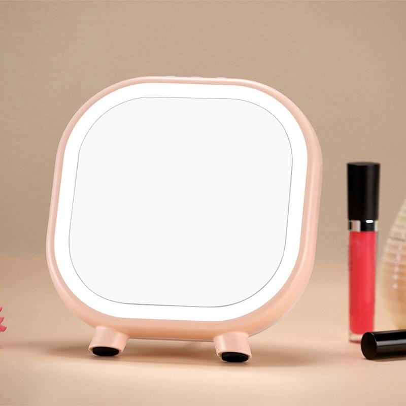 Maquillaje espejo de maquillaje LED espejo con contacto con Dimmer interruptor regulador de batería coche Bluetooth Estéreo auriculares Bluetooth espejo de regalo lámpara de mesa de dormitorio casa