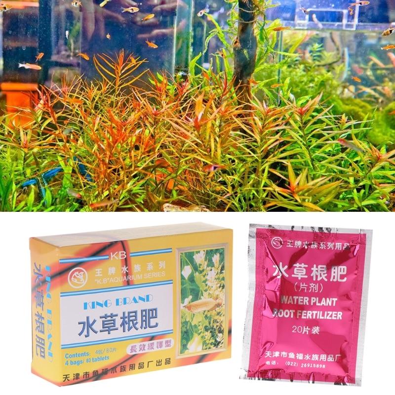 1 Box Aquarium Water Plant Root Fertilizer 80 Tablets Nutrtion Aquatic Fish Tank