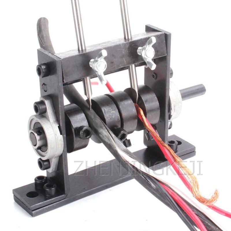 Desguazados Cable de alambre de núcleo único de Manual pelador pequeño pelador de soldadura de alambre de cobre Alambre de herramientas alicates de hogar Manual de Stripper