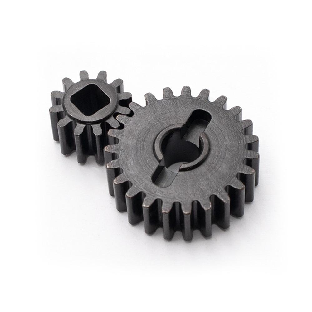 Engranaje de acero reforzado, eje Portal, Kit de dientes de acero, 32P 23 T/12 T, diente de acero para Capra Axial UTB RC, piezas de mejora de oruga