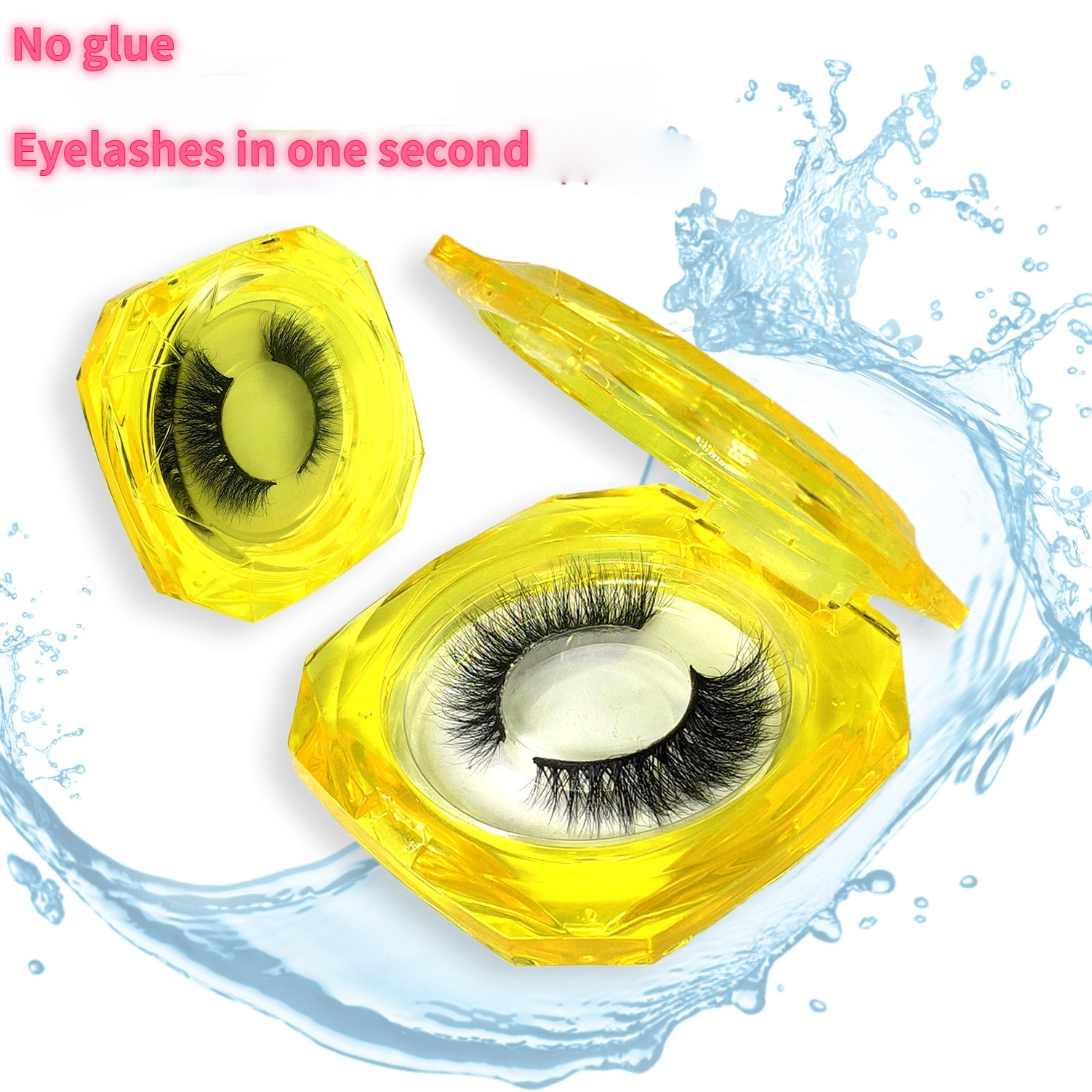 Water Self-adhesive Of False Eyelashes No Glue Is Needed Sticks Instantly When In Contact With Water