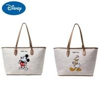 new donald duck shoulder bag mickey disney female large bag simple fashion large capacity handbag literary style storage bags
