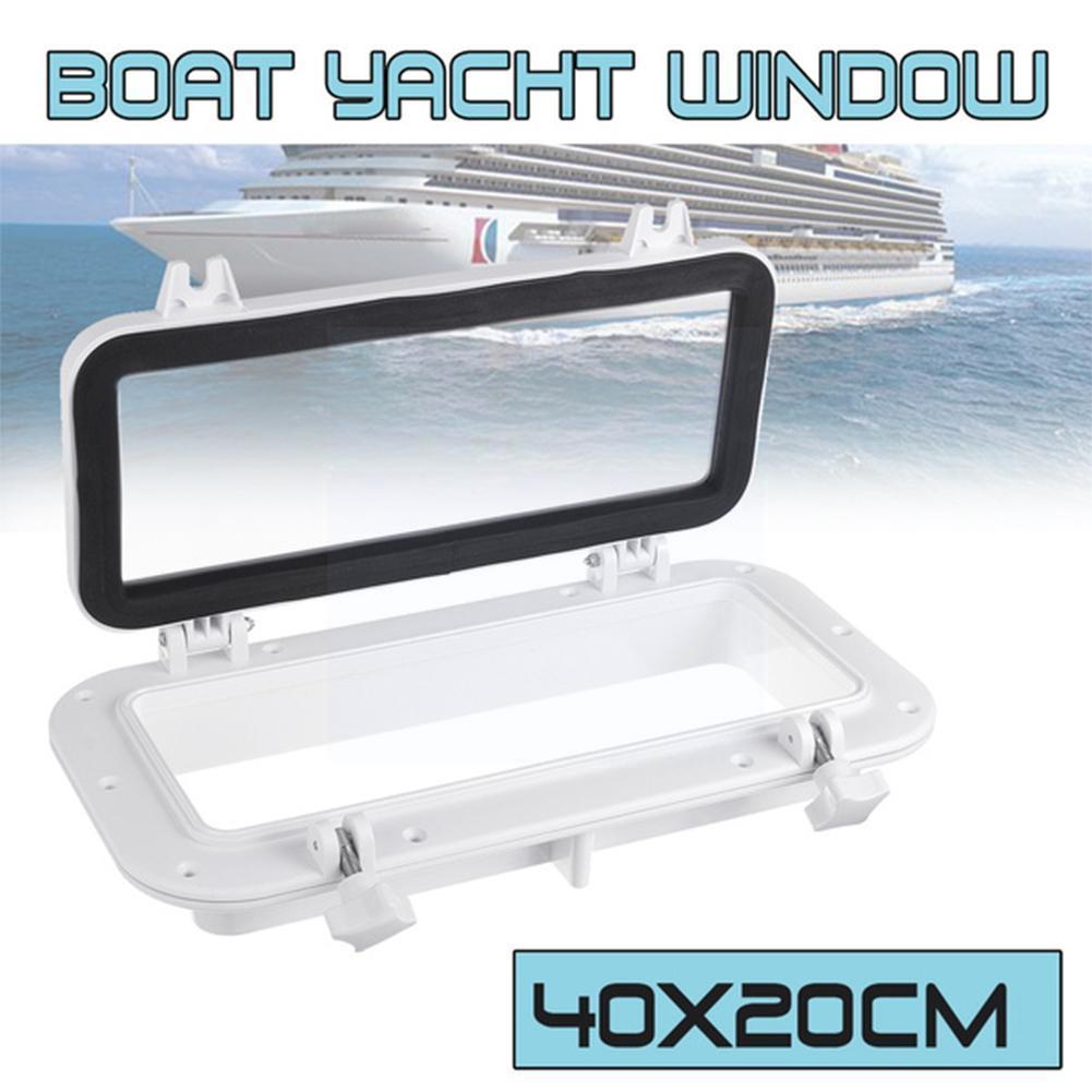 Белый прямоугольный открывающийся Люк для лодки, пластиковый лодки, морской порт, отверстие из АБС-пластика, яхта, RV, яхта, люки, прямоугольн...