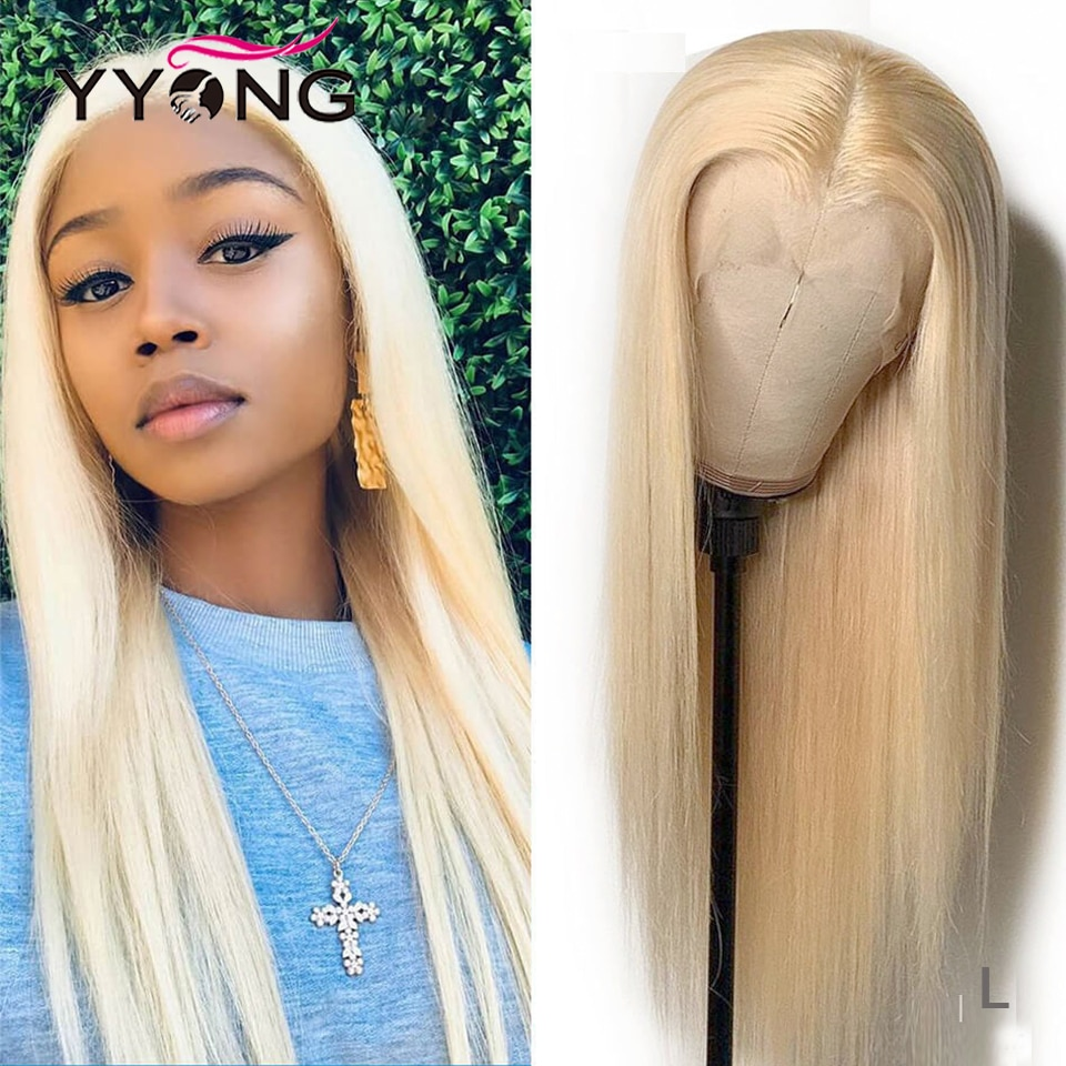 Yyong 613 Blond 4x4 &13x4 Lace Front Human Hair Wigs Pre Plucked With Baby Straight Remy Closure Wig 30inch