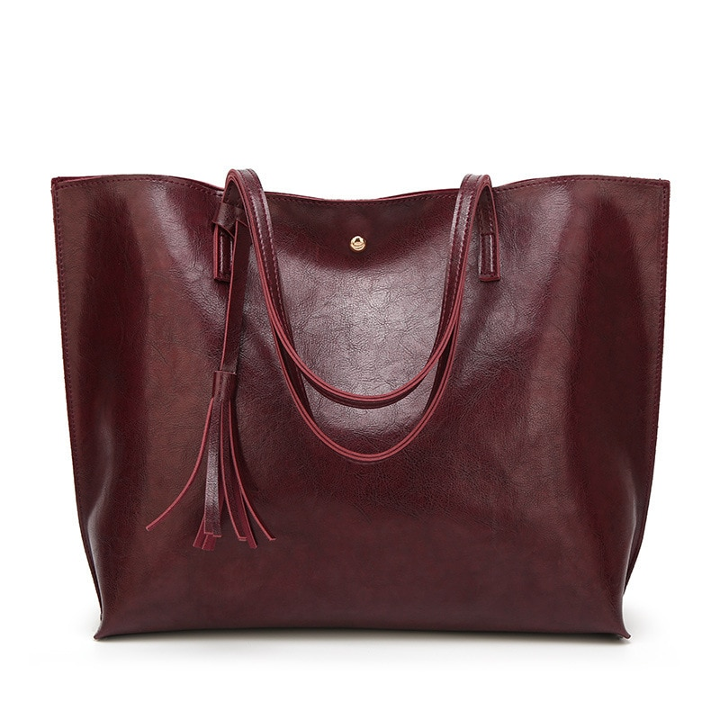 Tote Bag Clutches Satchels 10 diysomes Fake Designer Top- Handle Bags Women Handbag PU and Top- Handle Tassel Solid