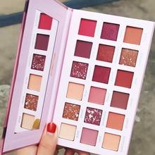 18 couleurs nu brillant fard à paupières nacré maquillage paillettes Pigment Smoky ombre à paupières Palette cosmétiques ombre à paupières beauté Palette
