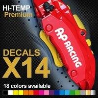 for 14pcs ap racing hi temp premium brake caliper decals stickers cast vinyl