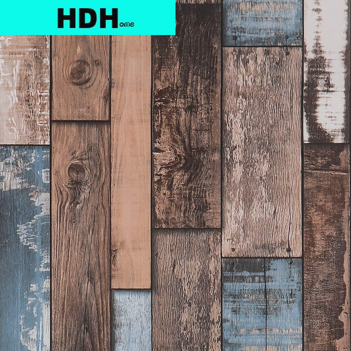 Teal Wood Wallpaper Stick and Peel Shiplap Wall Paper Self Adhesive Wood Contact Paper Decorative Vintage Removable Waterproof brown wood papers wood peel and stick wallpaper removable wood grain self adhesive vintage distressed wood grain renovated paper