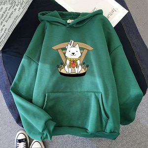 Anime Hoodie   Fall 2021  Women Clothing Tops Sweatshirts  Fashion Plus Size Cotton Regular Tie Dye Spring/Autumn  Long Sleeve