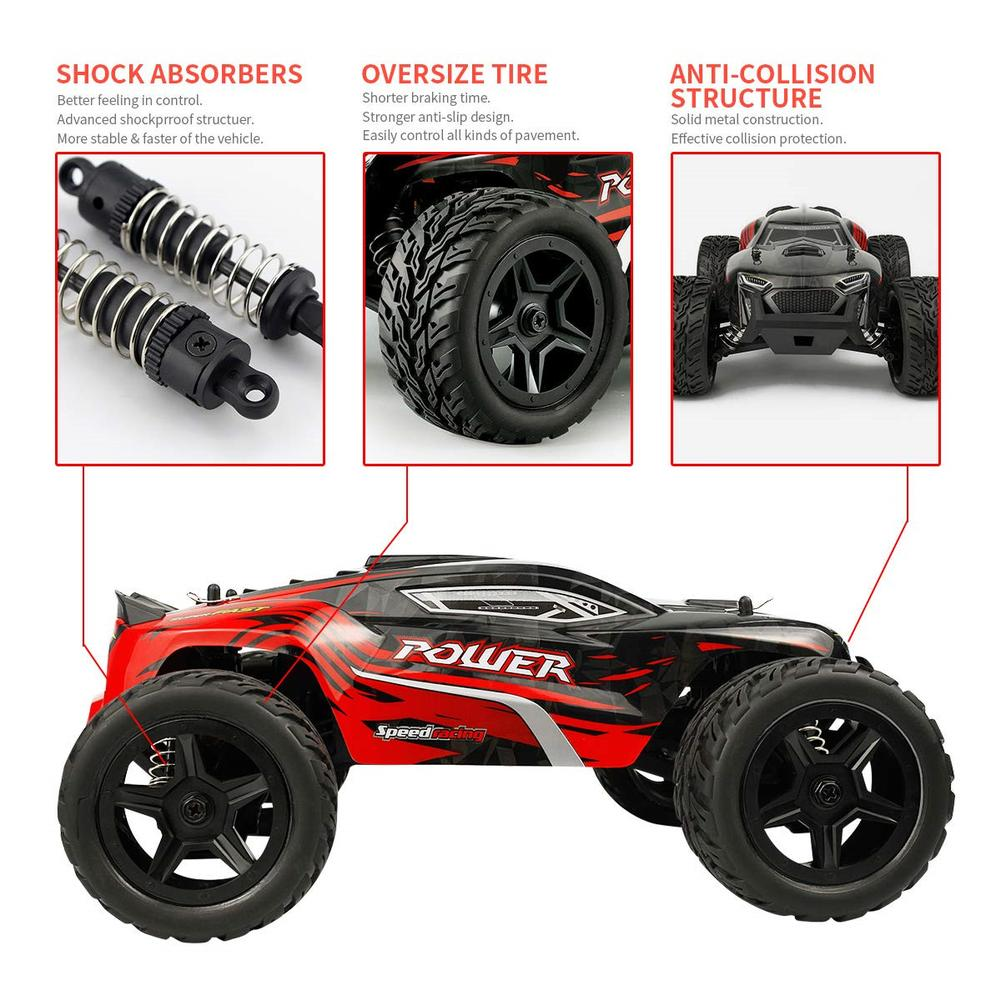 G172 RC Car 1:16 2.4G 4WD 40km/h High Speed Drive Climbing Car Toy for Kids Boys Remote Control Car RC Toys Off-road Vehicle enlarge