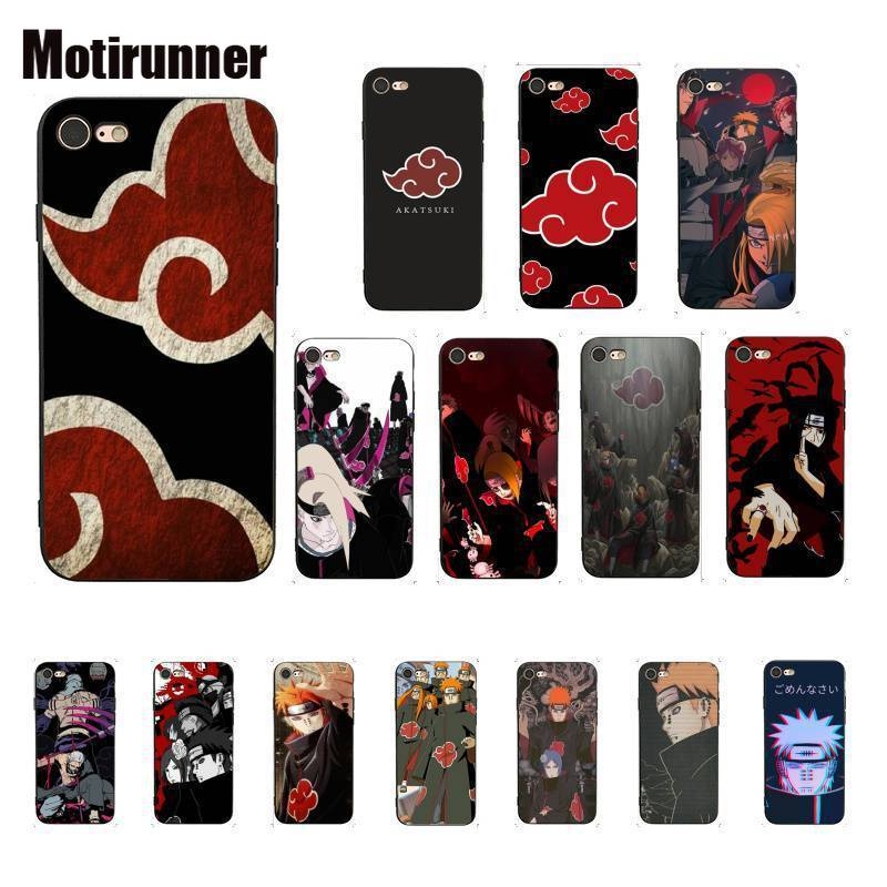 Motirunner Naruto AKATSUKI de patrón teléfono caso para IPhone 8 7 6 6S 6Plus X XS X MAX 5 5S SE XR tapa 11 Pro Max