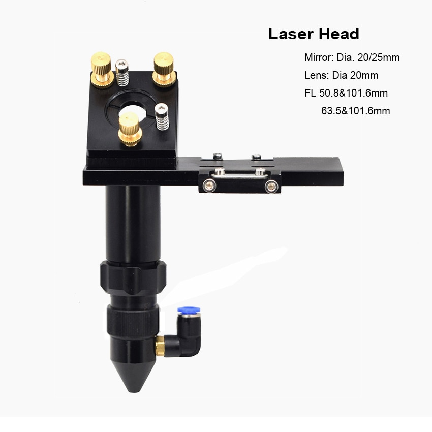 CO2 cabezal láser reflectante lente de enfoque de espejo soporte de montaje integrado para DIY cortador de grabado láser
