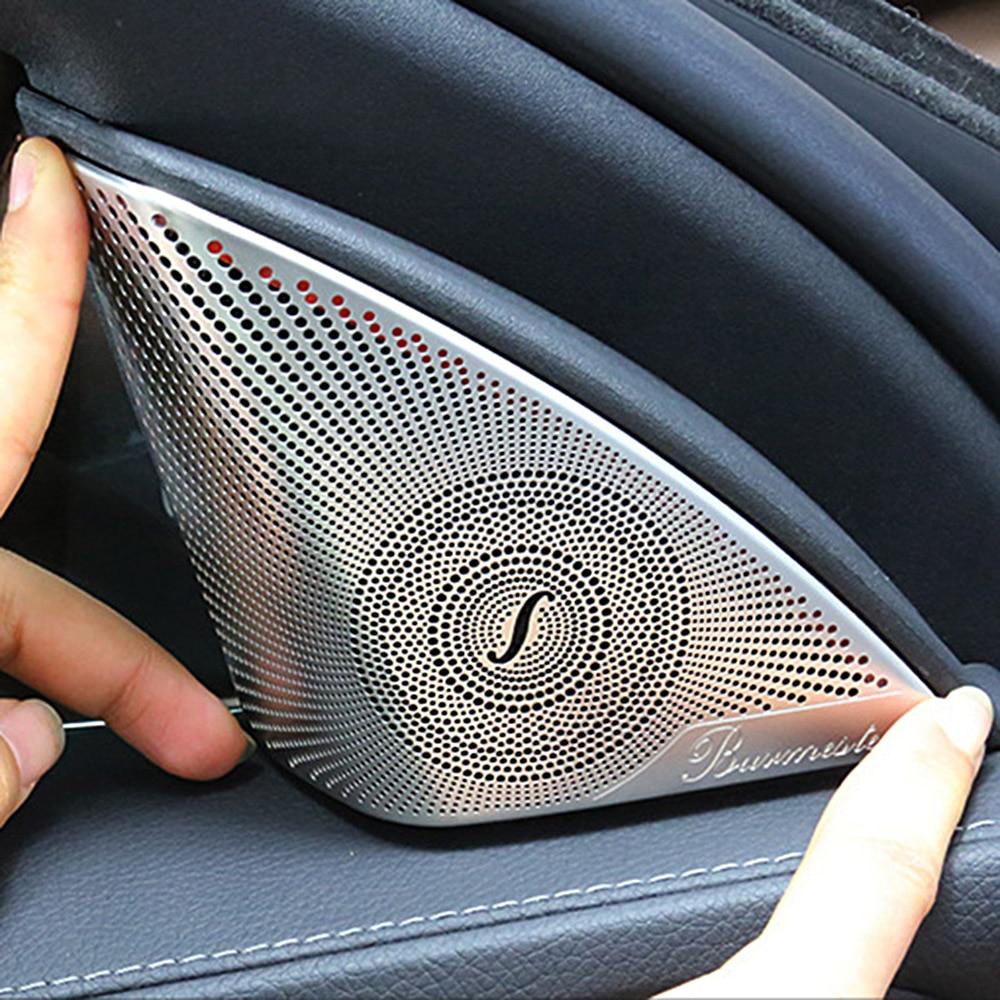 2 шт. Автомобильная дверь аудио динамик декоративная крышка для Mercedes Benz C Class W205 C320 C180 C200 C300 C205 отделка стикер аксессуары