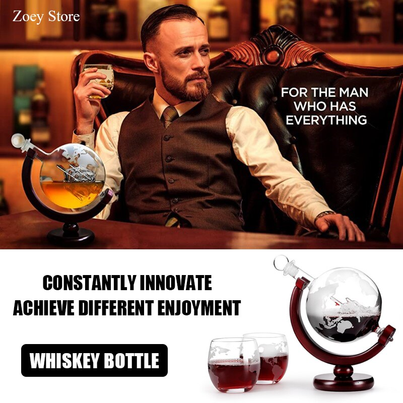 Z-NING Crystal Glass Wine Bottle Wine Glass Set Globe Red Wine Decanter Bar Wine Set Whiskey Glass Home Decoration Brandy Glass