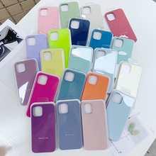 Original Official Liquid Case For iPhone 7 11 12 Pro XS XR X SE 2020 Case For iPhone 12 Pro Max 8 8 Plus Full Cover Box