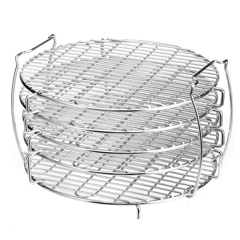حامل مجفف مع 5 طبقات قابلة للتكديس من الفولاذ المقاوم للصدأ لمقلاة الضغط Ninja Foodi 6.5 Qt و 8 Qt