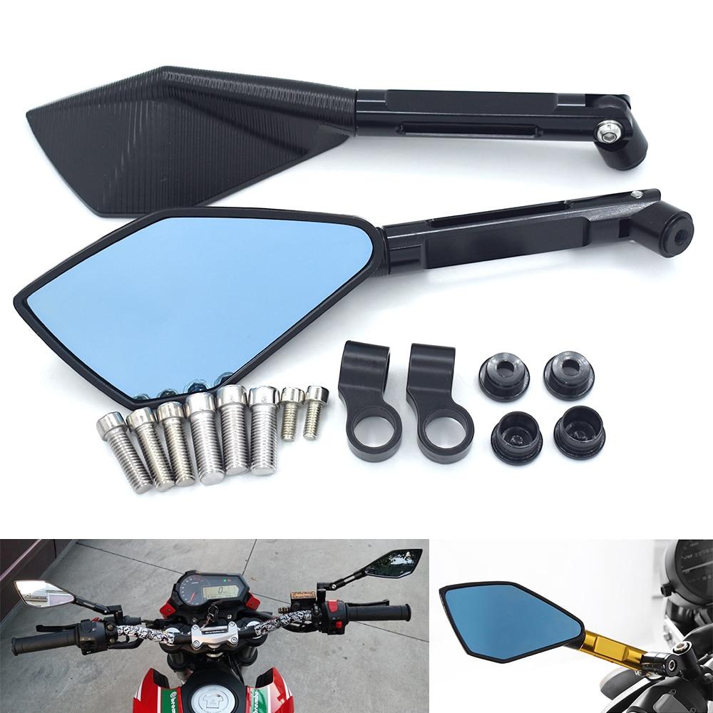 Для Honda VF750S VFR750 VFR800 Мотоцикл Универсальный интегральный CNC алюминиевый сплав зеркало заднего вида гоночный скутер трамвай применимо