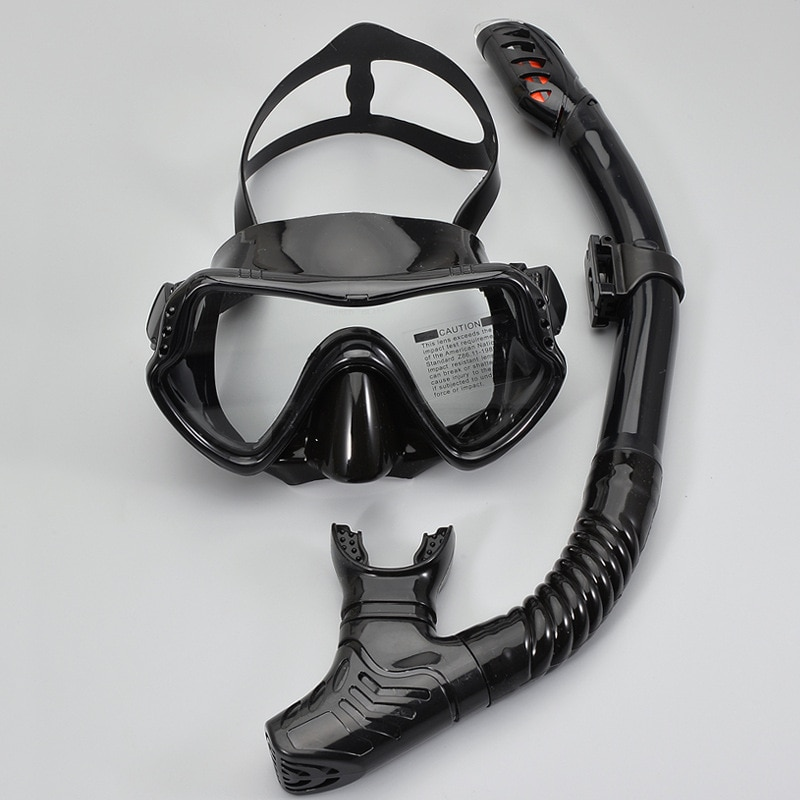 adult swimming swim diving scuba full dry snorkel snorkeling accessories professional silicone diving snorkel tube equipment Professional Scuba Diving Mask Silicone Mask Snorkel Anti-Fog Diving Mask Snorkel Full Dry Tube Underwater Swim Equipment