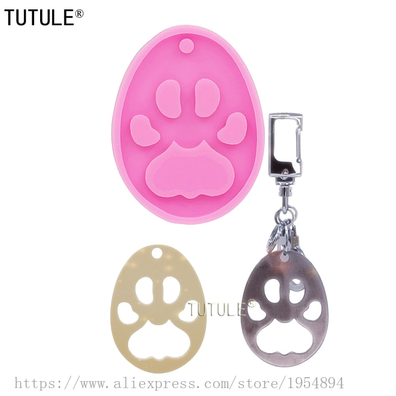 Gadgets,Shiny Paw Keychain Mold-Bear Paw Silicone Mold-Polymer Clay Molds-Epoxy Resin Mold-Silicone Key Chain Necklace Mold
