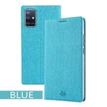 Für Samsung Galaxy A51 A71 Fall Luxus Stoff Textur PU Leder Magnetic Flip Case Für Samsung Galaxy A71 A51 Abdeckung gehäuse