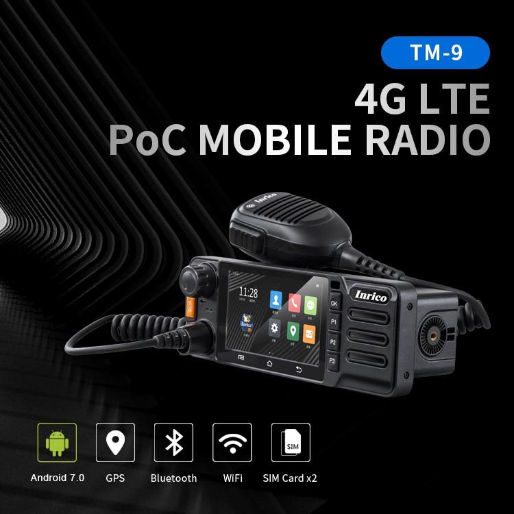 Inrico TM-9 4G Network Zello Walkie Talkie Ham Mobile Radio with Camera Touch Screen GPS SOS Mini Poc Car Radio Android