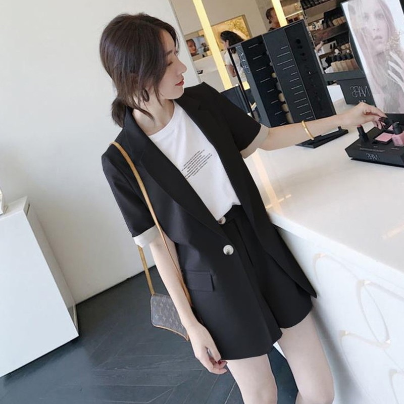 Women's Clothing Spring Gentle Suit Internet Celebrity Summer Korean Style Fat Sister Slimming Busin