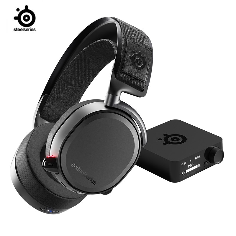 SteelSeries-سماعة ألعاب لاسلكية Arctis Pro ، بلوتوث ، دقة عالية ، PS4 والكمبيوتر الشخصي