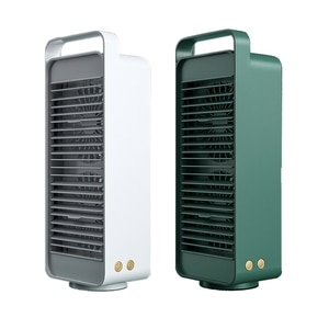 USB Double Blade Rotating Fan USB Rechargeable Fan Portable Cooling Fan Desktop Air Cooler for Office Traveling